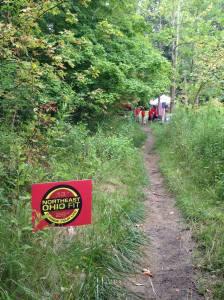 BR100 Trails near an aid station